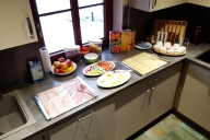 Samostatná kuchyň + snídaně Kašparáci pokoj 7